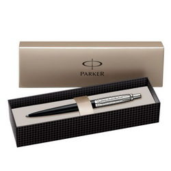 PARKER PIX JOTTER PREMIUM SATIN BLACK STAINLESS STEEL CHISELLED CT